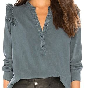 NWOT Bella Dahl Ruffled Pullover Top